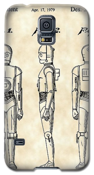 R2-d2 Galaxy S5 Case - Star Wars C-3po Patent 1979 - Vintage by Stephen Younts