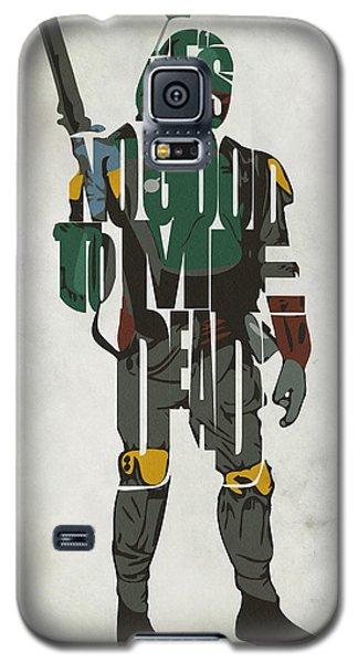 Star Wars Inspired Boba Fett Typography Artwork Galaxy S5 Case