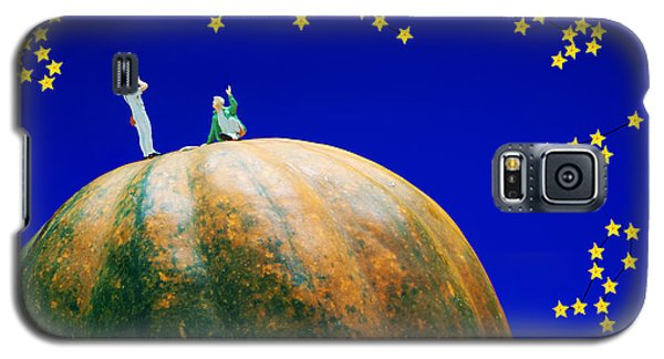 Galaxy S5 Case featuring the photograph Star Watching On Pumpkin Food Physics by Paul Ge