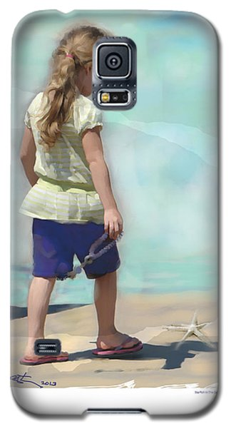Galaxy S5 Case featuring the painting Starfish In The Sand by Bob Salo