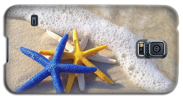 Galaxy S5 Case featuring the photograph Starfish In The Surf by Elizabeth Budd