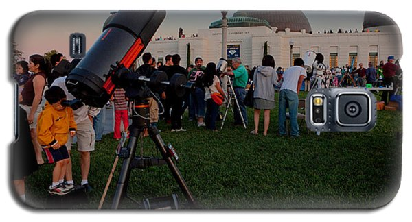 Stargazers At Dusk - Griffith Observatory Los Angeles California Galaxy S5 Case