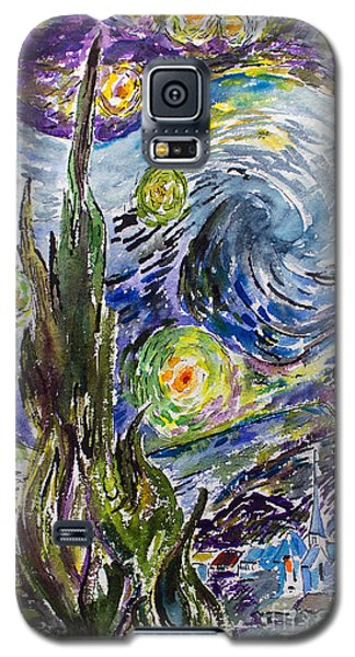 Galaxy S5 Case featuring the painting Starry Night After Vincent Van Gogh by Ginette Callaway