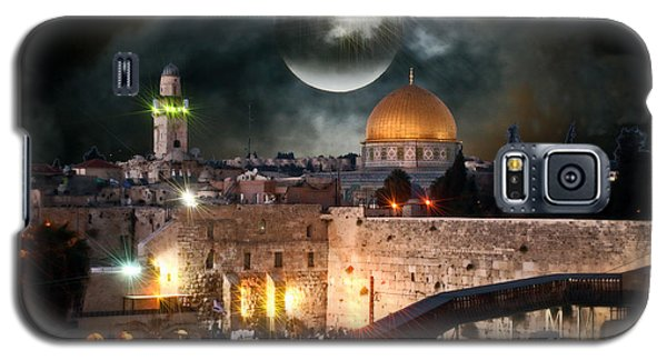 Starry Night At The Dome Of The Rock Galaxy S5 Case by Doc Braham