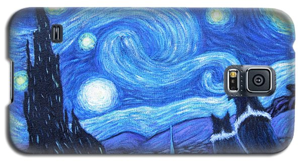 Starry Night Border Collies Galaxy S5 Case by Fran Brooks