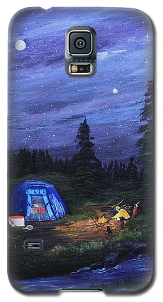 Starry Night Campers Delight Galaxy S5 Case by Myrna Walsh