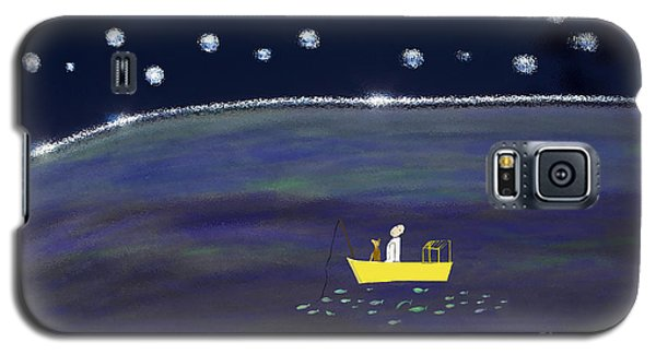 Galaxy S5 Case featuring the digital art Starry Night Fishing by Haleh Mahbod