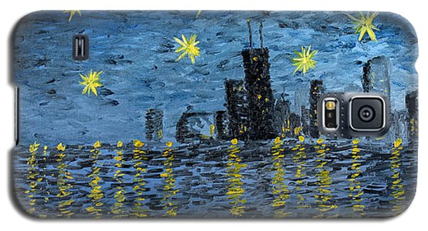 Starry Night In Chicago Galaxy S5 Case