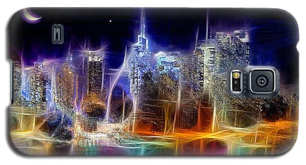 Galaxy S5 Case featuring the digital art Starry Night Nyc by Daniel Janda