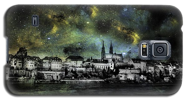 Galaxy S5 Case featuring the photograph Starry Night Over Basel Switzerland by James Bethanis