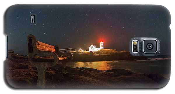Starry Skies Over Nubble Lighthouse  Galaxy S5 Case