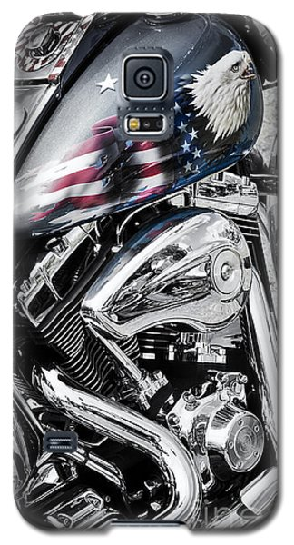 Stars And Stripes Harley  Galaxy S5 Case