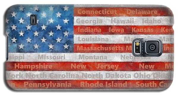 Stars And Stripes With States Galaxy S5 Case