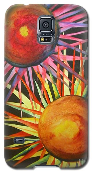 Galaxy S5 Case featuring the painting Stars With Colors by Chrisann Ellis