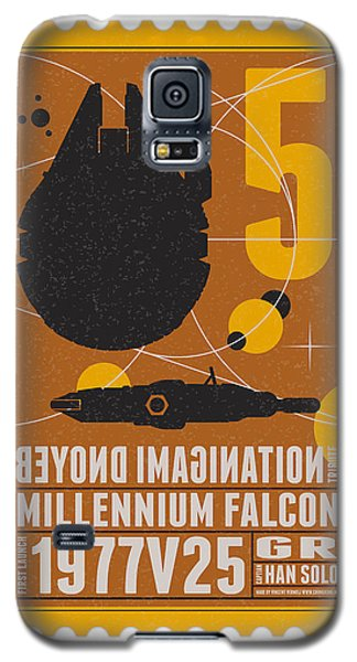 Falcon Galaxy S5 Case - Starschips 05-poststamp -star Wars by Chungkong Art
