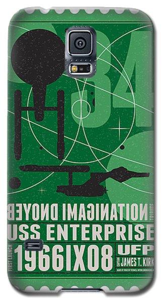 Starschips 34-poststamp - Uss Enterprise Galaxy S5 Case by Chungkong Art