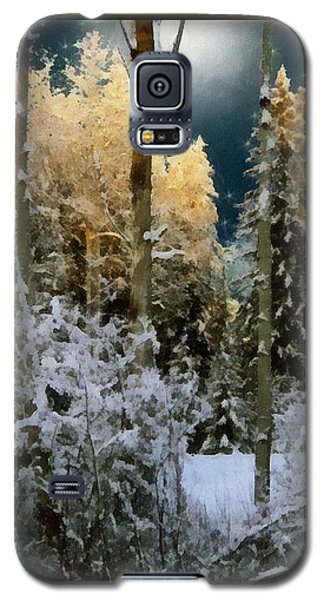 Starshine On A Snowy Wood Galaxy S5 Case