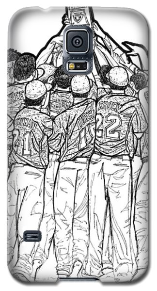 Galaxy S5 Case featuring the drawing State Champions by Calvin Durham