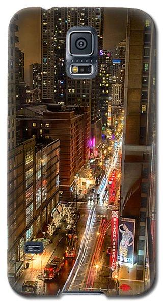 State Street - Chicago - 12-14-13 Galaxy S5 Case by Michael  Bennett