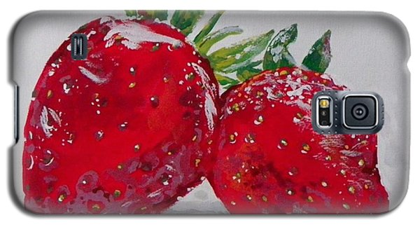Stawberries Galaxy S5 Case by Marisela Mungia