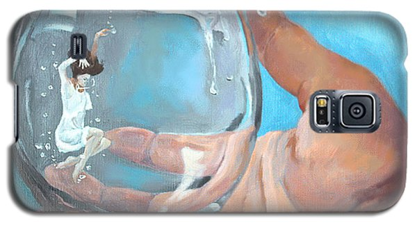 Galaxy S5 Case featuring the painting Staying Afloat by Rachel Hames