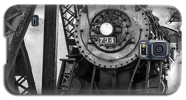 Steam Engine 734 Leaving The Narrows Galaxy S5 Case by Jeannette Hunt