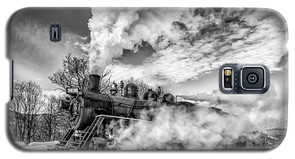 Steam In The Snow Black And White Version Galaxy S5 Case