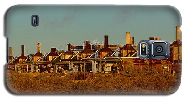 Galaxy S5 Case featuring the photograph Steam Plant In Cymric Field by Lanita Williams