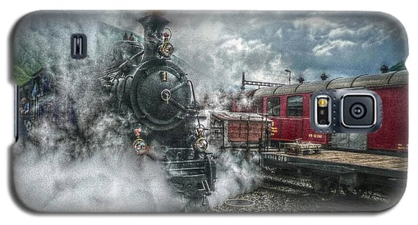 Galaxy S5 Case featuring the photograph Steam Train by Hanny Heim