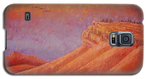 Galaxy S5 Case featuring the painting Steamboat Mountain At Sunrise by Margaret Bobb