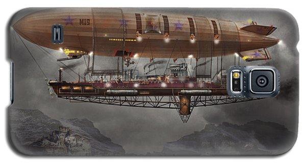 Steampunk - Blimp - Airship Maximus  Galaxy S5 Case by Mike Savad