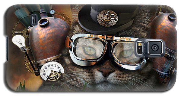 Steampunk Cat Galaxy S5 Case