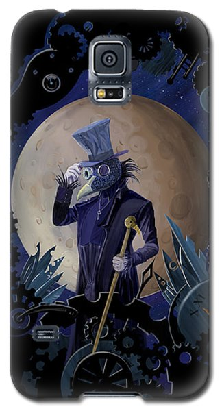 Raven Galaxy S5 Case - Steampunk Crownman by Sassan Filsoof
