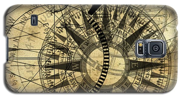 Steampunk Gold Compass Galaxy S5 Case