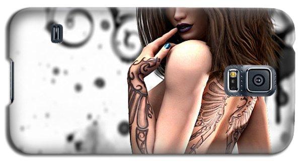 Galaxy S5 Case featuring the digital art Steampunk Pin-up by Sandra Bauser Digital Art