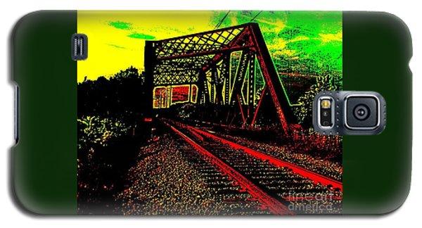 Steampunk Railroad Truss Bridge Galaxy S5 Case