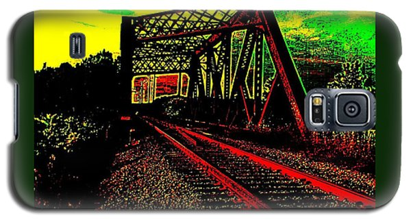 Steampunk Railroad Truss Bridge Galaxy S5 Case by Peter Gumaer Ogden