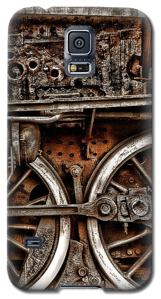 Steampunk- Wheels Locomotive Galaxy S5 Case