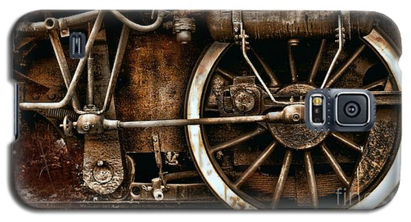 Steampunk- Wheels Of Vintage Steam Train Galaxy S5 Case