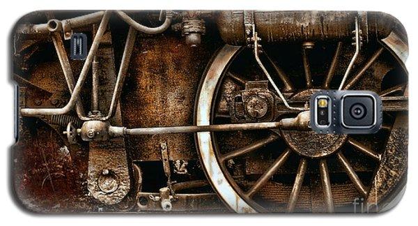 Steampunk- Wheels Of Vintage Steam Train Galaxy S5 Case