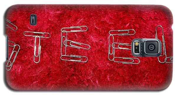 Steel On Red Galaxy S5 Case by Ellen Tully