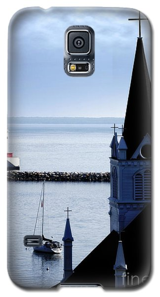 Steeple On Lake Huron Galaxy S5 Case by Lincoln Rogers