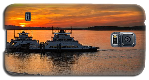 Galaxy S5 Case featuring the photograph Steilacoom Ferry's At Sunsets by Rob Green