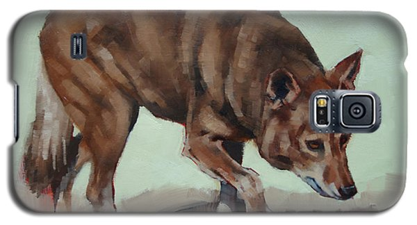 Galaxy S5 Case featuring the painting Steppin' Wolf by Margaret Stockdale