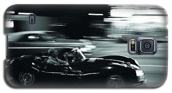 Steve Mcqueen Jaguar Xk-ss On Sunset Blvd Galaxy S5 Case