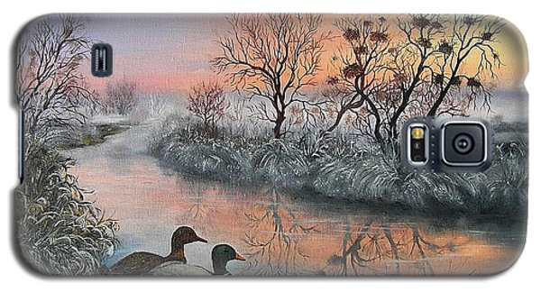 Galaxy S5 Case featuring the painting Still Beauty by Vesna Martinjak