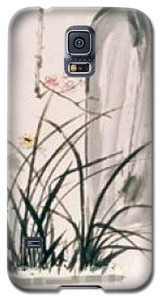 Galaxy S5 Case featuring the painting Still Life And Flower by Fereshteh Stoecklein