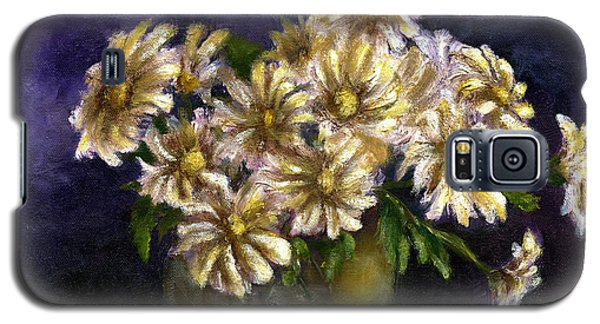 Still Life Art Diaisies In Purple  Galaxy S5 Case