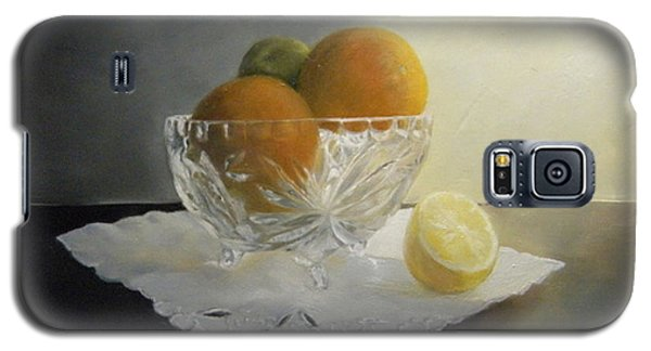 Galaxy S5 Case featuring the painting Still Life In Crystal by Lori Ippolito
