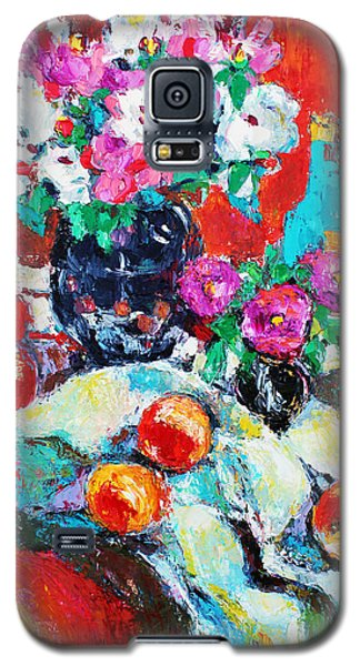 Still Life In Studio With Blue Bottle Galaxy S5 Case by Becky Kim